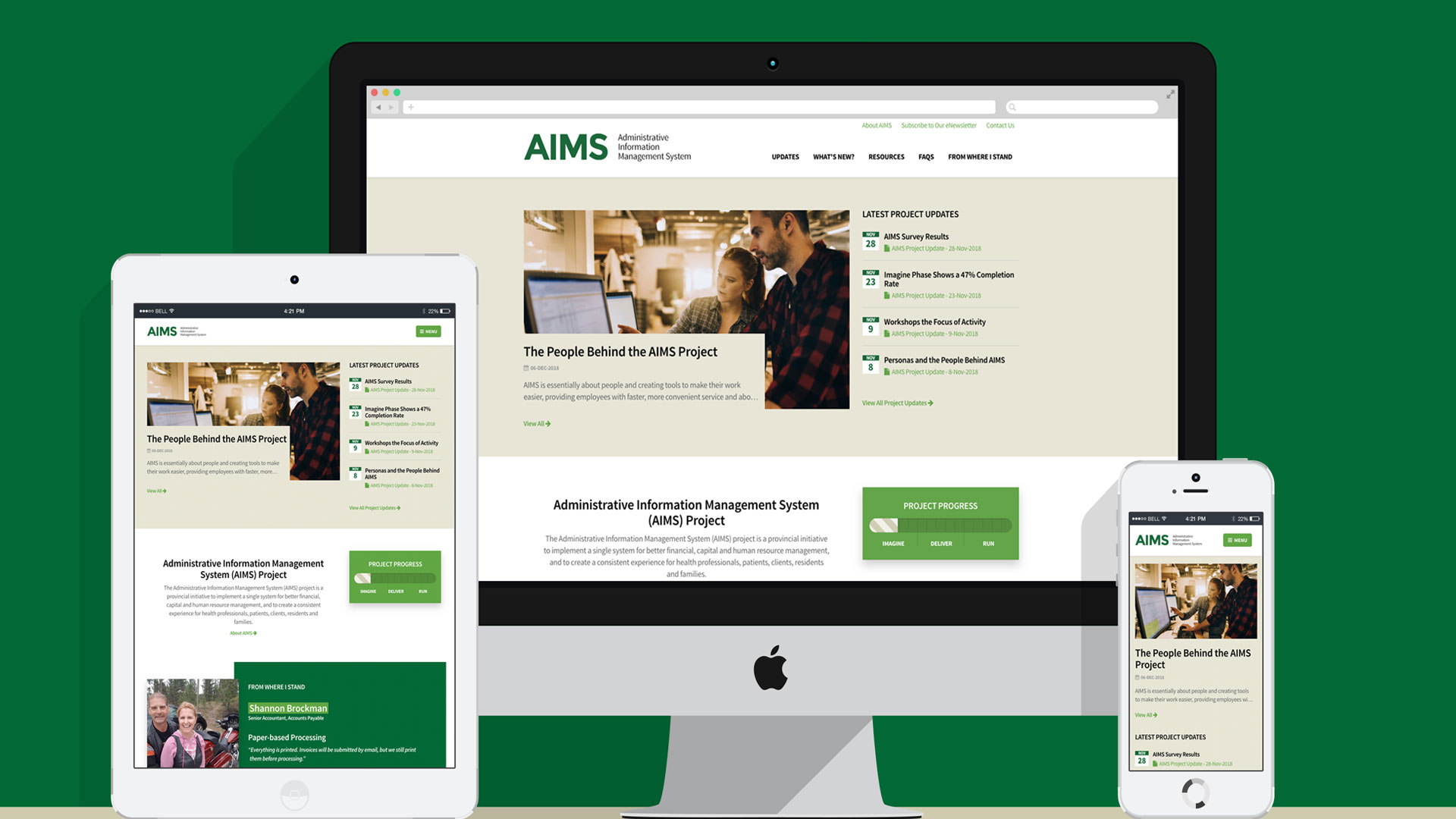 AIMS Project Launches New Website